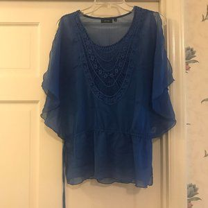 Royal blue top with matching cami